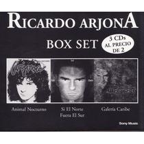 Ricardo Arjona - Box Set 3 Cd´s Al Precio De 2