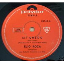 Elio Roca Mi Credo Mon Credo En Castellano Simple Argentino