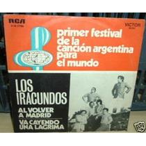 Los Iracundos Al Volver A Madrid Simple C/tapa Argentino