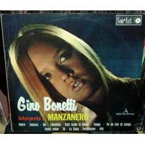 Gino Bonetti Interpreta Manzanero Vinilo Mejicano Promo