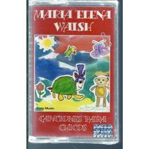 Maria Elena Walsh Canciones Paar Chicos Cassette Nuevo
