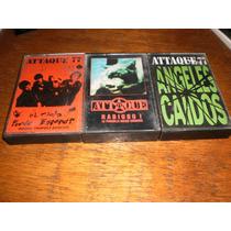 Lote De 3 Cassette De Attaque 77(flema-2minutos-violarores)