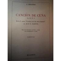 Partitura Coral Y Piano Canción De Cuna Op. 49 N 4 J.brahms