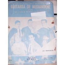 Partitura Guitarra De Medianoche Letra Y Música 1962