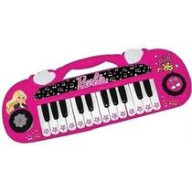 Nuevo Miniteclado Barbie Rockstar Bc-1912 Luces 14 Melodias!