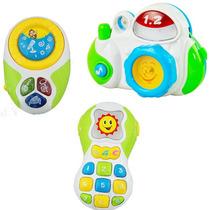 Set Musical Bebe Rainbow Telefono Camara Y Reproductor Luz