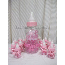 Mamadera Color Rosa Para Baby Shower-nacimiento