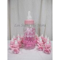 Mamadera Color Rosa Para Baby Shower-nacimiento