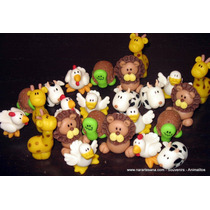 10 Souvenir Nacimiento Animalitos Porcelana Fría Narartesana