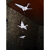 Grullas Origami Souvenir Adorno Bautismo Mes Fiestas