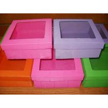 Cajitas De Carton Microcorrugado Con Visor Precio X 10 Unid!