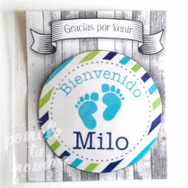 10 Circulo Iman 5cm En Bolsita+tarjeta Souvenir Nacimiento