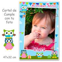 Lechuzas/búhos Cumpleaños Nacimiento Cartel Personalizado