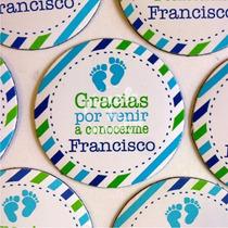 20 Circulos Iman De 5cm Souvenir Nacimiento Personalizado!!!