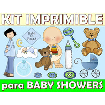 Kit Imprimible Baby Showers Nacimientos Varones Nenas
