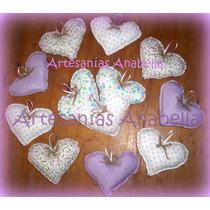 Souvenirs Corazones De Tela, Nacimiento, Babyshower, Cumples