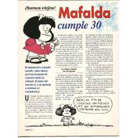 Revista Nueva. 29/5/94. Mafalda Cumple 30 Años.