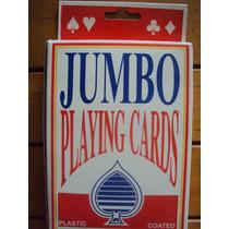 Cartas Grandes De Poker Ideal Black Jack, Magia Etc