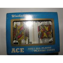 Mazo De Naipes Cartas De Póker Canasta Ace Plástico Cerrado