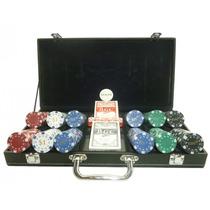 Valija De Cuero - Juego De Poker - Set - Mazo, Ficha Y Dado