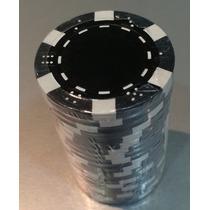 Fichas Poker 11gr Tubo X 20 Negro/blanco/violeta/rojo/verde