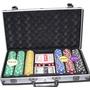 Juego De Poker X 300 Fichas Y Naipes Valija Metalica (13264)