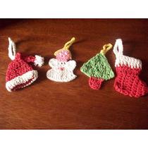 Crochet Adornos De Navidad(lote De 4)-san Martin