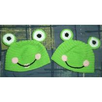 Gorro Tejido Al Crochet - Sapo Pepe