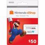 Nintendo Eshop 50 Usa Tarjeta 3ds Wii U Platinum Microcentro