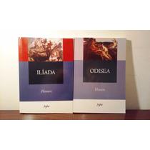 La Ilíada + La Odisea Homero (lote X 2 Libros)
