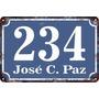 Fábrica Carteles Calle Y Número De Domicilio 20x30cm Nu-2a