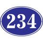 Fábrica Carteles Calle Número Domicilio Oval 35x25cm Nu-3h