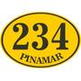 Fábrica Carteles Calle Número Domicilio Oval 35x25cm Nu-3d