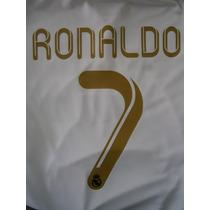 Números Y Nombres Real Madrid 2006 A 2014 Original Y Oficial