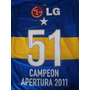 Estampado Boca Juniors Nº51 Campeón Apertura 2011 Original