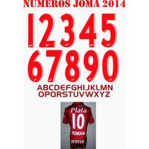 Numeros Vectorizados Joma 2014 - Ideal Estampadores