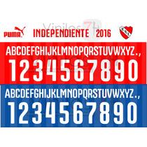 Estampados Números Tipografía Independiente 2016