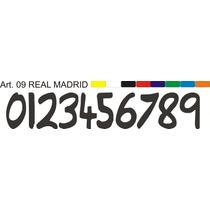 Estampado Numeros Futbol Real Inter Juventus Barcelona