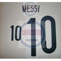 Estampado 10 Messi Argentina Titular Brasil 2014 Original