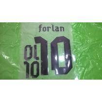 Estampado Original Forlan Camiseta Uruguay 2013-14