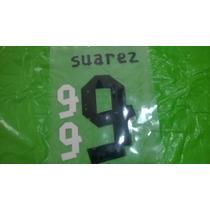 Estampado Original Suarez Camiseta Uruguay 2013-14