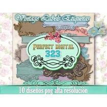 10 Etiquetas Antiguas Vintage Frascos Cajas Cajones Precios