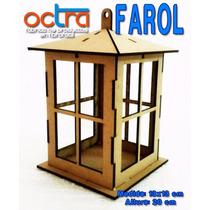 Figura 3d Farol De Madera