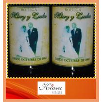 Botella De Vino Personalizada Vasco Viejo 375cc