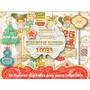 Set 16 Png Navidad Vintage Tags Tarjetitas Regalos Toppers +