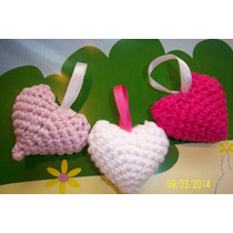 Corazones Tejidos Al Crochet