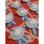 Escarapela Tejida A Crochet Pajarito