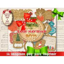 14 Imagenes Png Navidad Navideñas Tags Tarjetas Etiquetas 2x