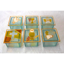10 Souvenirs En Vidrio Pintado - Cajas Mini X10 Unid.