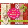 6 Fondos Papel Digital Navidad Scrapbook Diseño Tarjetas 2x1